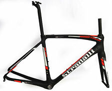 51 S STRADALLI SAN REMO CARBON FIBER ROAD BIKE FRAMESET FRAME RED BLACK BB30