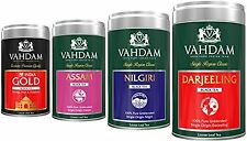 VAHDAM, Black Tea Combo - SET OF 4 TEAS- Darjeeling, Assam, Nilgiri, Indian Gold