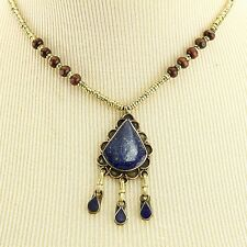 LAPIS KUCHI Tribe BellyDance ATS Central Asia NECKLACE 806a8