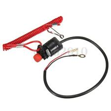 Universal Outboard Engine Motor Scooter ATV Kill Stop Switch + Safety Tether