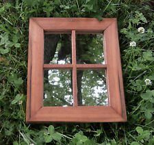 Reclaimed Barn Wood Window Frame w/mirror Primitive Rustic Decor Handmade Rectan