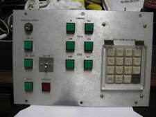 CONTROL DATA ENTRY PANEL 11 ON OFF LIGHTED  SWITCHES AND DATA ENTRY PAD