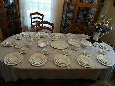 """Wedgewood Bone China """"Belle Fleur"""" Set for 12 w/8 Serving Pieces 8-1"""