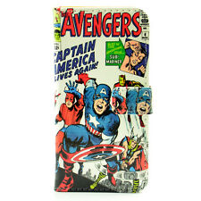 Marvel Comic Captain America PU Leather Wallet Flip Case Cover For Iphone 5 5S