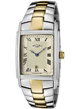 ROTARY-GB42830/08 Men's Champagne Textured Dial Two Tone Watch