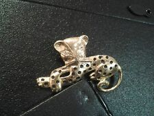 Nice Cat Brooch- Golden with Black spots