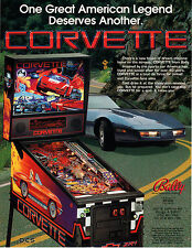 CORVETTE Original Promo Pinball Flyer BALLY 1994 MINT