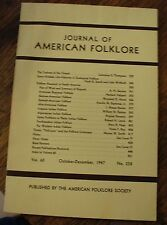 Journal of American Folklore Oct-Dec 1947 Vol 60 N 238 Research in North America