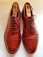 Salvadore Ferragamo Studio Men's Shoes Size 10D Brown Leather Cap Toe Laces