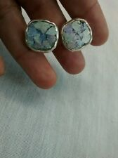Very nice sterling 925 roman glass cufflinks artisan studio