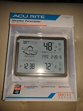 AcuRite 75077 Weather Forecaster with Jumbo Display, Remote Sensor and Atomic Cl