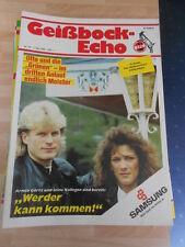 Geißbock Echo 1 FC Köln Nr.15 vom 7.5.1988 gegen Werder Bremen