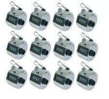 12 X Cromo Hand Held Tally Counter 4 dígitos Palm Golf Tally Clicker