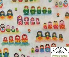 RPG250C Matryoshka Dolls Nesting Russian Folk Love Family Quilting Cotton Fabric
