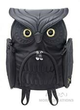 Owl MEDIUM BLACK 3D backpack MORN CREATIONS bag LADY kindergarten preschool hoot