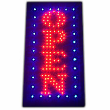 Bright Classic Vertical Open LED Light business Store Bar Coffee Cafe Sign neon