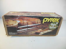 Retro Pyrex Bake A Round Glass Cooking Bread Tube & Rack Corning w/ Box #990