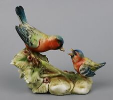 "Capodimonte Antonio Borsato Figurine 976 ""Bird Feeding Baby"" WorldWide"
