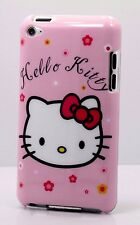 for ipod touch 4TH 4 GEN itouch hard back case cute kitten red pink white //