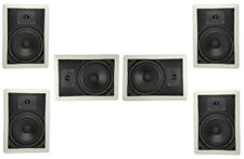 """New listing 6 1/2"""" 2-Way In-Wall/ Ceiling Speakers Home Theater Front Surround Center 6 Pack"""