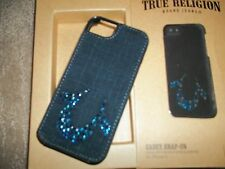 TRUE RELIGION Leather CASEY Snap On Phone Case Iphone 5 / 5S  Cover ~ NEW In Box