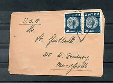 Israel Scott #42 Pair with Holiday Triangular Cancellation Sent to the USA!!