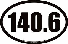 "140.6 Full Ironman Triathlon Oval Car Magnet 4 1/4"" x 6 1/2"""