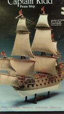"Captain Kidd Pirate Ship Model construction Kit  Lindberg 14"" long vintage 1990"