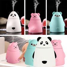 Elektrische Panda LED Luftbefeuchter Aroma Diffuser Raumduft Aromatherapie Weiß