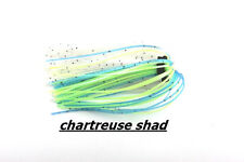 Boss Banded Skirts gonnellini per jig o spinner bait 5PZ X BUSTA Chartreuse Shad