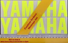 2x Fluro Yellow 230mm X 55mm Sticker Motogp,R6 R1 YZF Suitable For Yamaha Bikes
