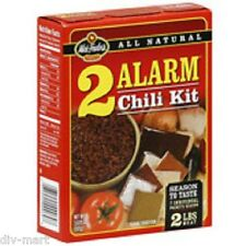 Lot of 3, Wick Fowler's 2 ALARM CHILI KIT, 3.625 oz, Each Kit Seasons 2# of Meat