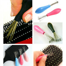 Comb Hair Brush Cleaner Clean Remover Embedded Useful Plastic Handle