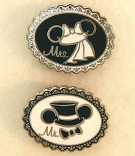MR. and MRS. WEDDING EAR DISNEY TRADING PINS bride & groom pin lot