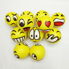 Ball Toys Funny Emoji Soft Foam Sponge Elastic Ball Indoor Outdoor Toys Random
