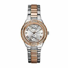 ..GUESS..U13586L2 TWO-TONE STATUS-IN-THE-ROUND WATCH-SIMPLY STUNNING!