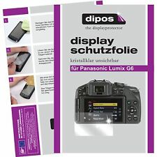 6x dipos Panasonic Lumix DMC G6 Schutzfolie klar Displayschutzfolie Folie