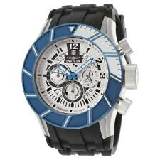 NEW Invicta Mens 14025 Pro Diver Chronograph Silver Textured Dial Black Polyuret