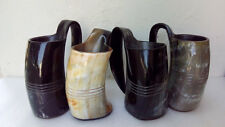 Big 600 ml Set of 4 Viking Drinking Horn Mugs for beer wine mead Game of thrones