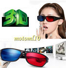 5X Blue Red 3D Stereoscopic Glasses Black Frame 3D Dimensional Vision Eyewear Mo