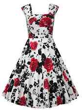 Vintage 50s Rockabilly Swing Pinup Evening Party Cocktail Dress S-5XL Plus Size