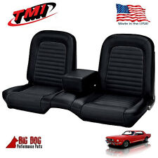 1966 Ford Mustang Black Front Bench Seat Upholstery Made in USA by TMI