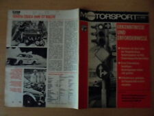 ILLUSTRIERTER MOTORSPORT 3/1978 * STVO MC Teterow TOYOTA CELICA 2000GT Rallye
