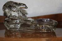 Antike Art Deco Visitenkarten Ablage Eisbären Czech Glas Gablonz Böhmen Crystal