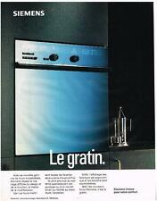 PUBLICITE   1994    SIEMENS   FOUR  ENCASTRABLE