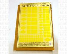 Virnex HO Decals Diamond Rect Square Logo Shapes Lt Yellow 1992