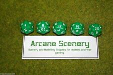 TWENTY SIDED DICE D20 GREEN Opaque For Wargames & Games Workshop