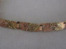BLACK HILLS GOLD CO 10KT & 12KT MULTI COLOR  BRACELET - NEEDS CLASP - 10.5 GRAMS
