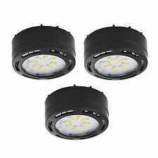 LED Puck Light Undercabinet Accent Kit 120V Series (set of 3) LEDPL3BLK