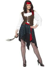 ADULT WOMENS PIRATE LADY COSTUME SMIFFYS CARIBBEAN FANCY DRESS - MEDIUM